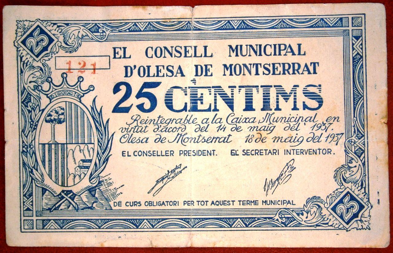 Olesa de Monserrat 25 Céntimos 1937  P1010001