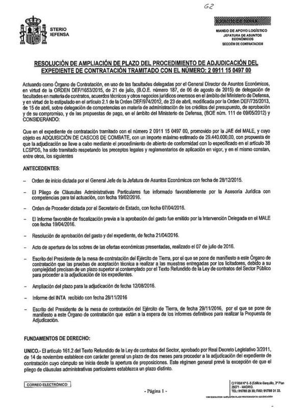 español - Noviembre de 2014 - Diciembre de 2016. Nuevo casco de combate para el Ejército español. - Página 2 20161202_DOC201612021118271000_RESOLUCION_AMPLIA