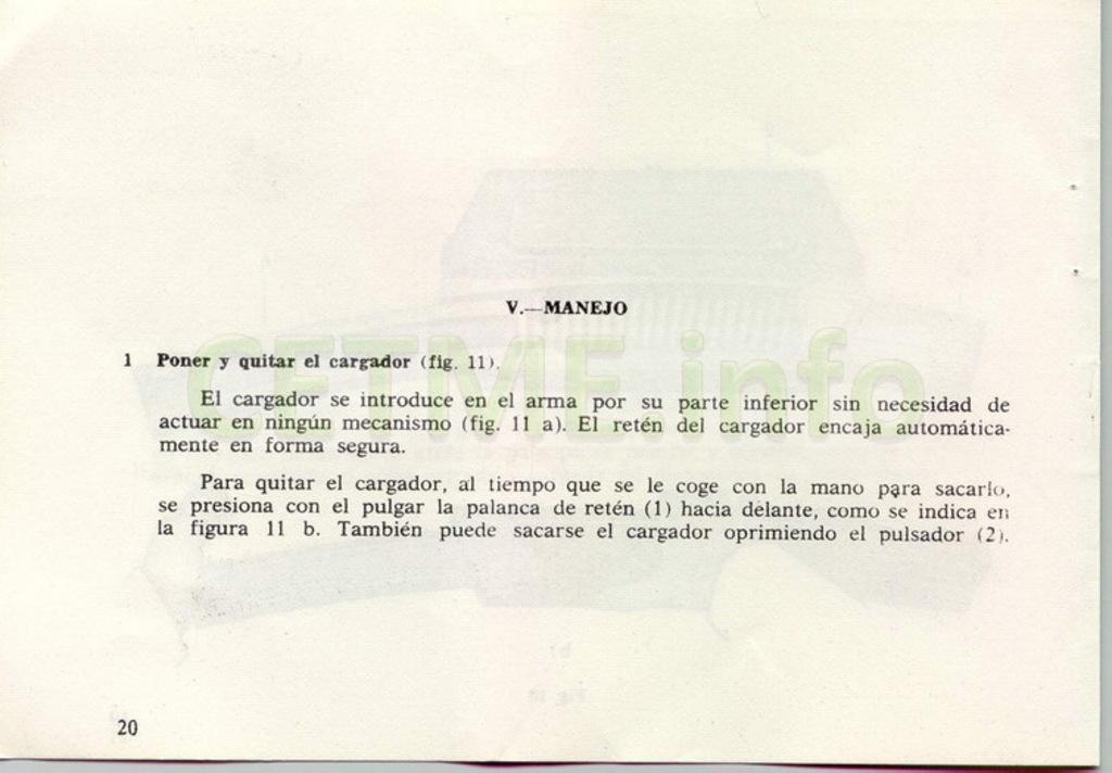 "Manual CETME C ""Santa Bárbara"" 1º Modelo. Manual_p20"