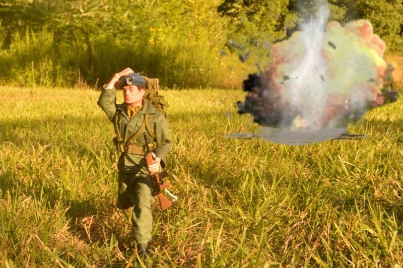 Blue Beret Combat Explosion