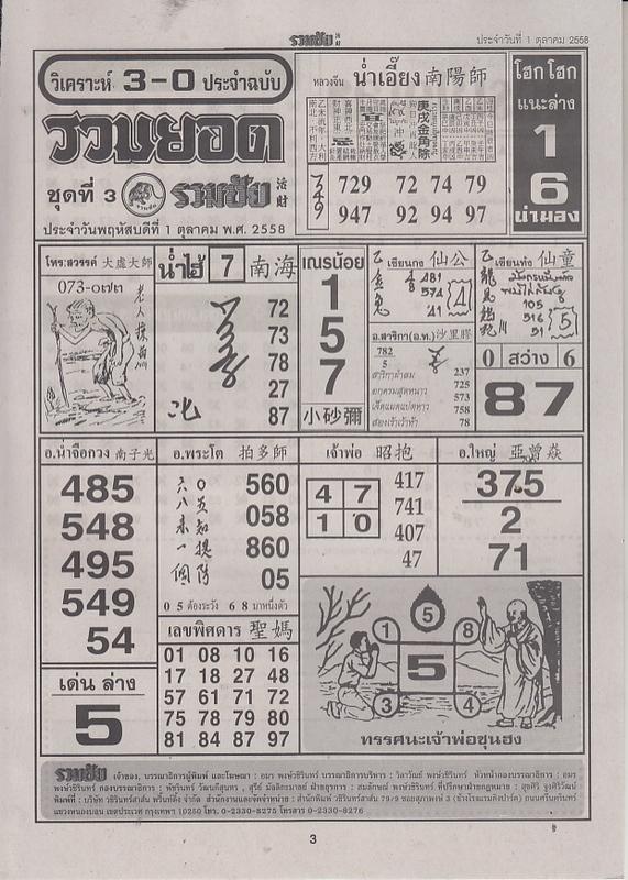 01 / 10 / 2558 FIRST PAPER Ruamchai_3