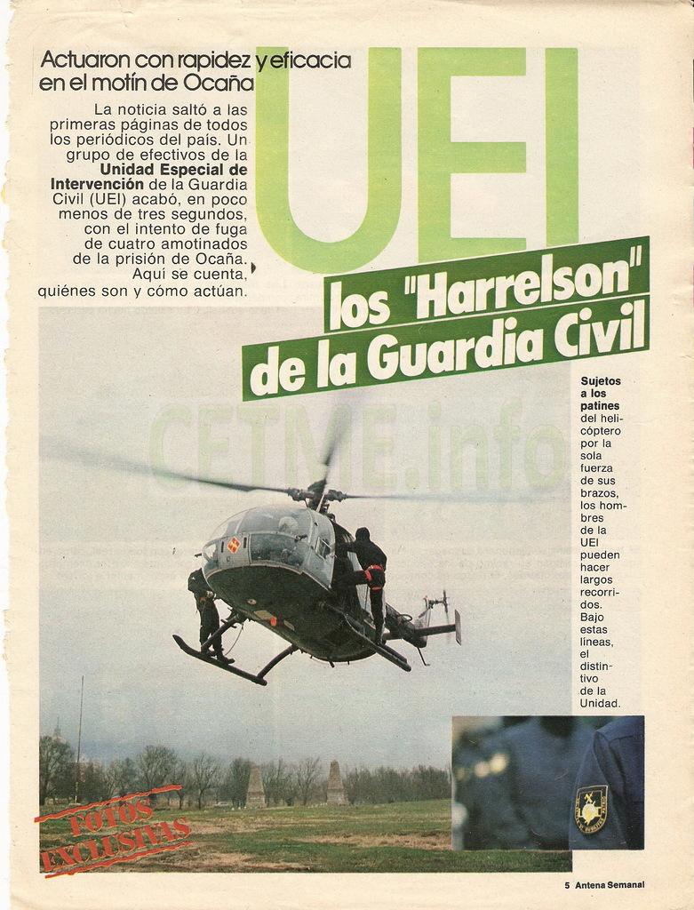 "UEI - Los ""Harrelson"" de la Guardia Civil. Antena Semanal, 02 Diciembre 1984 Antena_Semanal_021284_pp005"