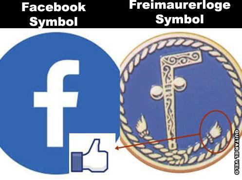 Allgemeine Freimaurer-Symbolik & Marionetten-Mimik Faceb