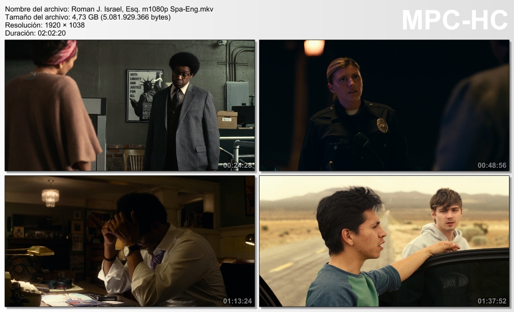 Roman J. Israel, Esq. (2017) [Ver Online] [Descargar] [HD 1080p] [Español-Inglés] [Drama] Roman_J._Israel_Esq._m1080p_Spa-_Eng.mkv_thumbs