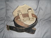 CF stamped leather belt+44 patt type canteen carrier. DSCF0291