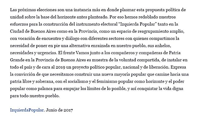 Izquierda Popular, un nuevo partido para la Argentina plebeya - Página 2 Colectoras