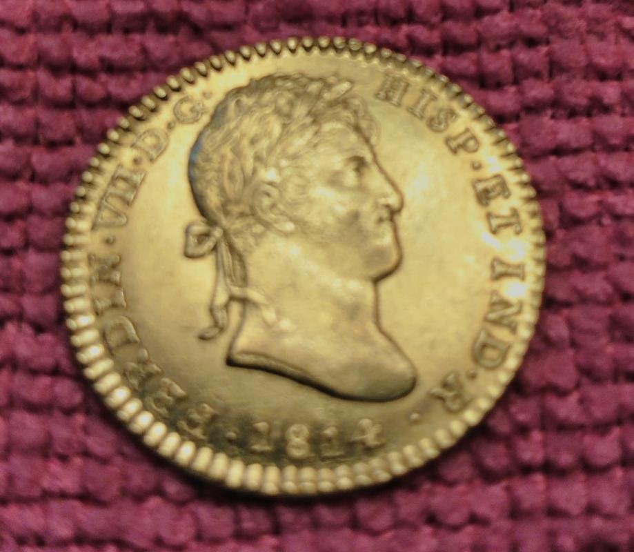 2 Escudos. Fernando VII 1814 CJ/CI. Ceca de Cádiz IMG_20180826_105823