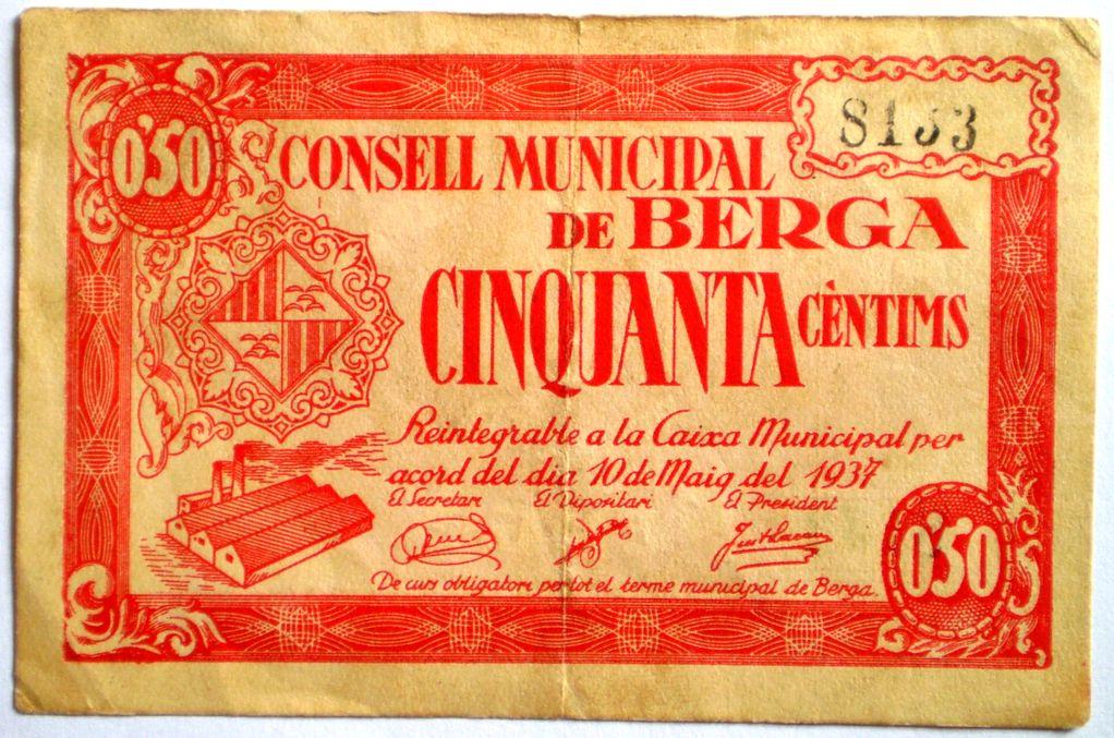 50 Céntimos Berga, 1937 (Barcelona - Guerra Civil) 005