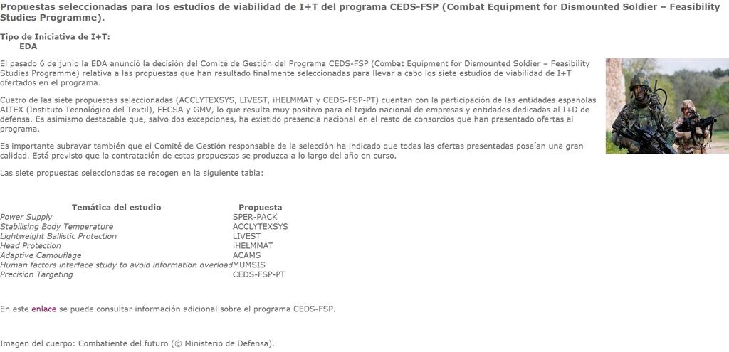 Noviembre de 2014 - Diciembre de 2016. Nuevo casco de combate para el Ejército español. COBAT_FECSA_004