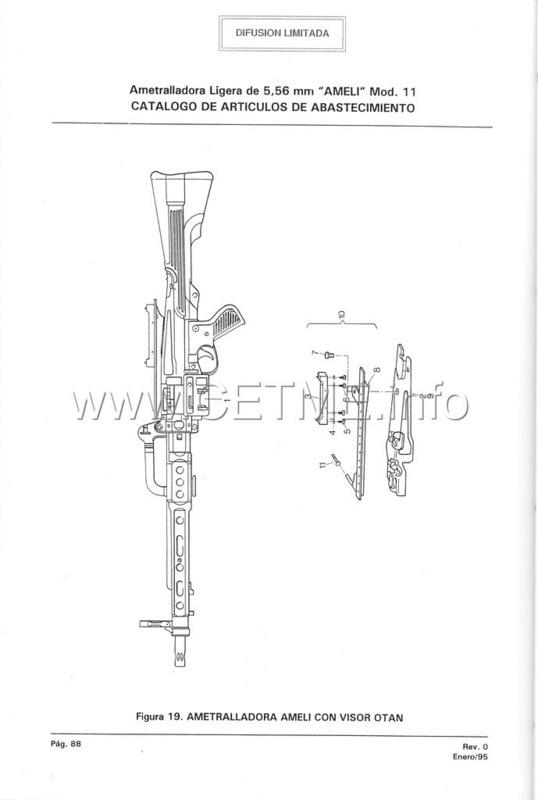 MT7-606 MANUAL TECNICO - CATALOGO DE PIEZAS. AMETRALLADORA LIGERA 5,56 mm, mod. 11 Manual_Tecnico_AMELI_mod11_pp088