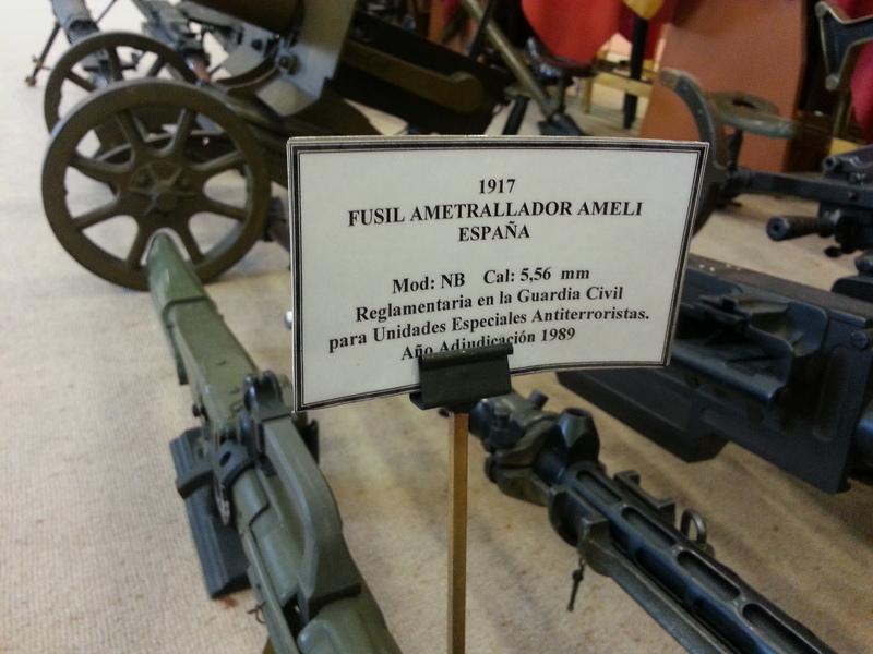 Bocacha de Fogueo de la Ametralladora AMELI. Museo de la Guardia Civil. Madrid. 20140404_Bocacha_Fogueo_Museo_GC_002