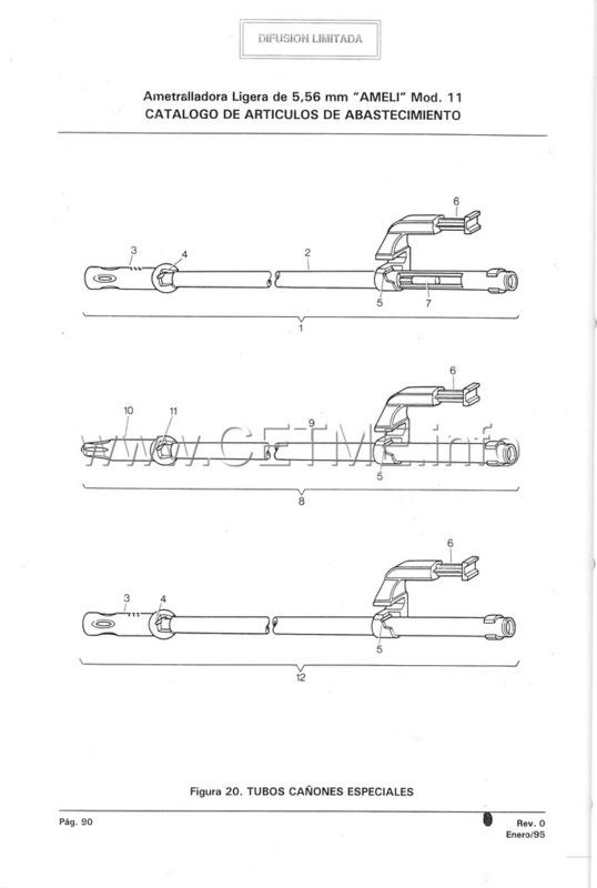 MT7-606 MANUAL TECNICO - CATALOGO DE PIEZAS. AMETRALLADORA LIGERA 5,56 mm, mod. 11 Manual_Tecnico_AMELI_mod11_pp090