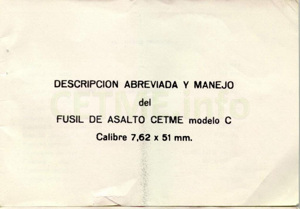 "Manual CETME C ""Santa Bárbara"" 1º Modelo. Manual_p01"