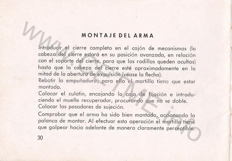 1956 - DESCRIPCION ABREVIADA DEL FUSIL DE ASALTO CETME - CETME A-2a  1956_CETME_A-2a_FORO_032