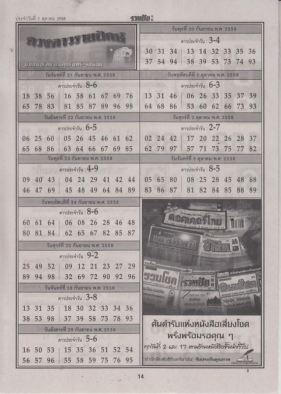 01 / 10 / 2558 FIRST PAPER Ruamchai_14
