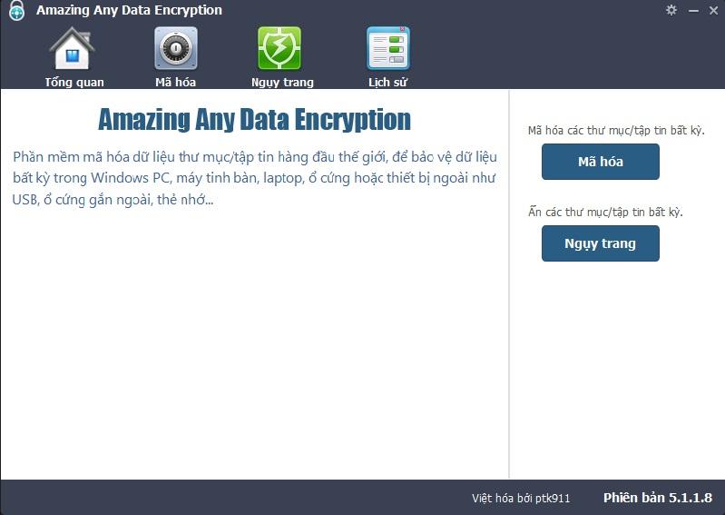 Any Data Encryption 5.1.1.8 Việt hóa - Mã hóa, ẩn folder/file tuyệt vời Encryption_2