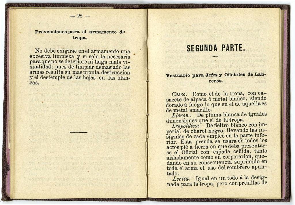 "casco - Casco Mod. 1875 de Oficial de Lanceros del Regimiento Nº1 ""del Rey"". Regl_Unif_Caballeria_1875_pp17"