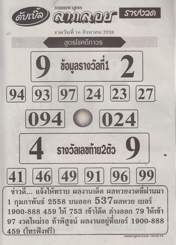 16 / 08 / 2558 MAGAZINE PAPER  Dabble_laploy_4
