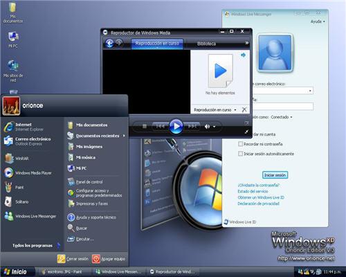 Windows Sp3 Orionce Edition V3 [Full ISO] [Booteable] [Español] [RS-UL] Escritorio_2