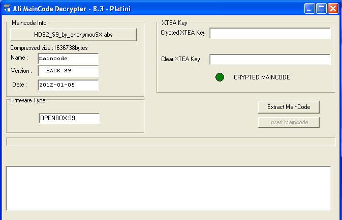 Openbox S FirmwareDecrypter Snap1