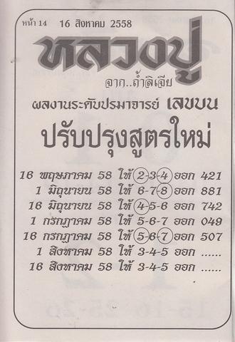 16 / 08 / 2558 MAGAZINE PAPER  - Page 2 Luangpu_14