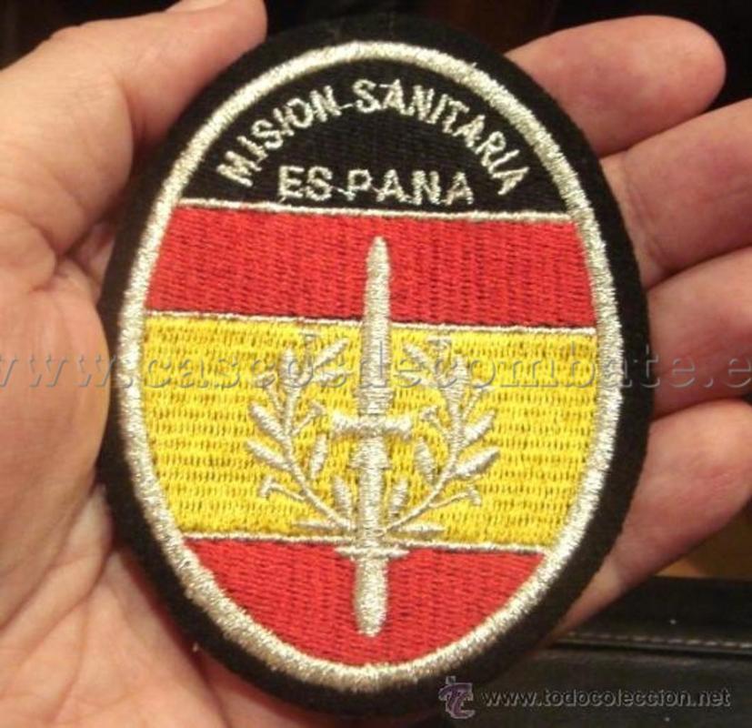 ESPAÑOLES EN VIETNAM - Historia, Cascos y Uniformes. Distintivos_y_emblemas_misionsanitaria_005_El_Rastro_TC