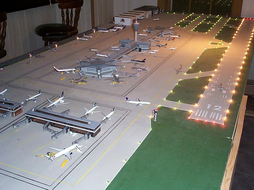 Aeroporturi in miniatura 1:400 - 1:500 Lightoverview