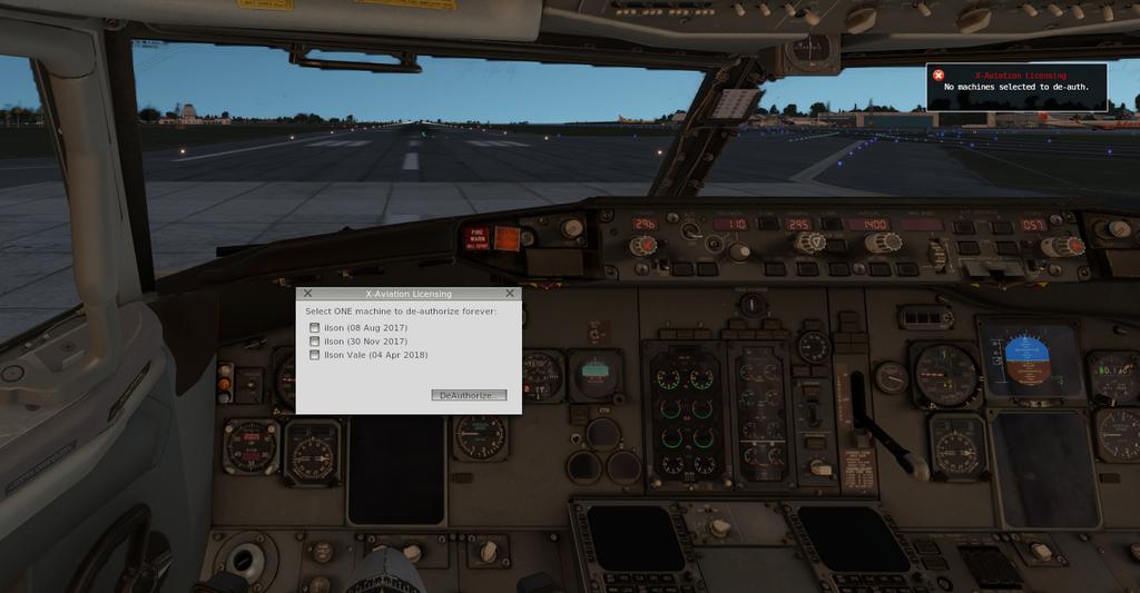 Ixeg 737 licença não entra. B733_6