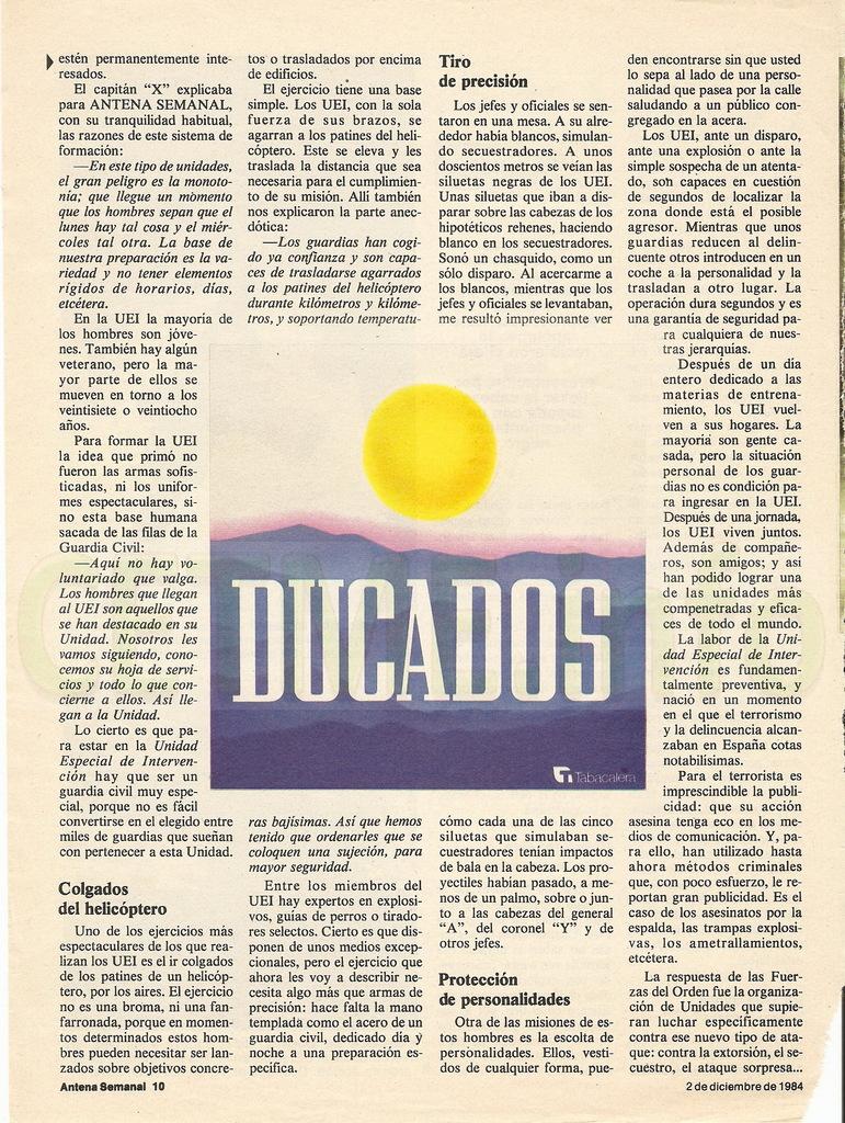 "UEI - Los ""Harrelson"" de la Guardia Civil. Antena Semanal, 02 Diciembre 1984 Antena_Semanal_021284_pp010"