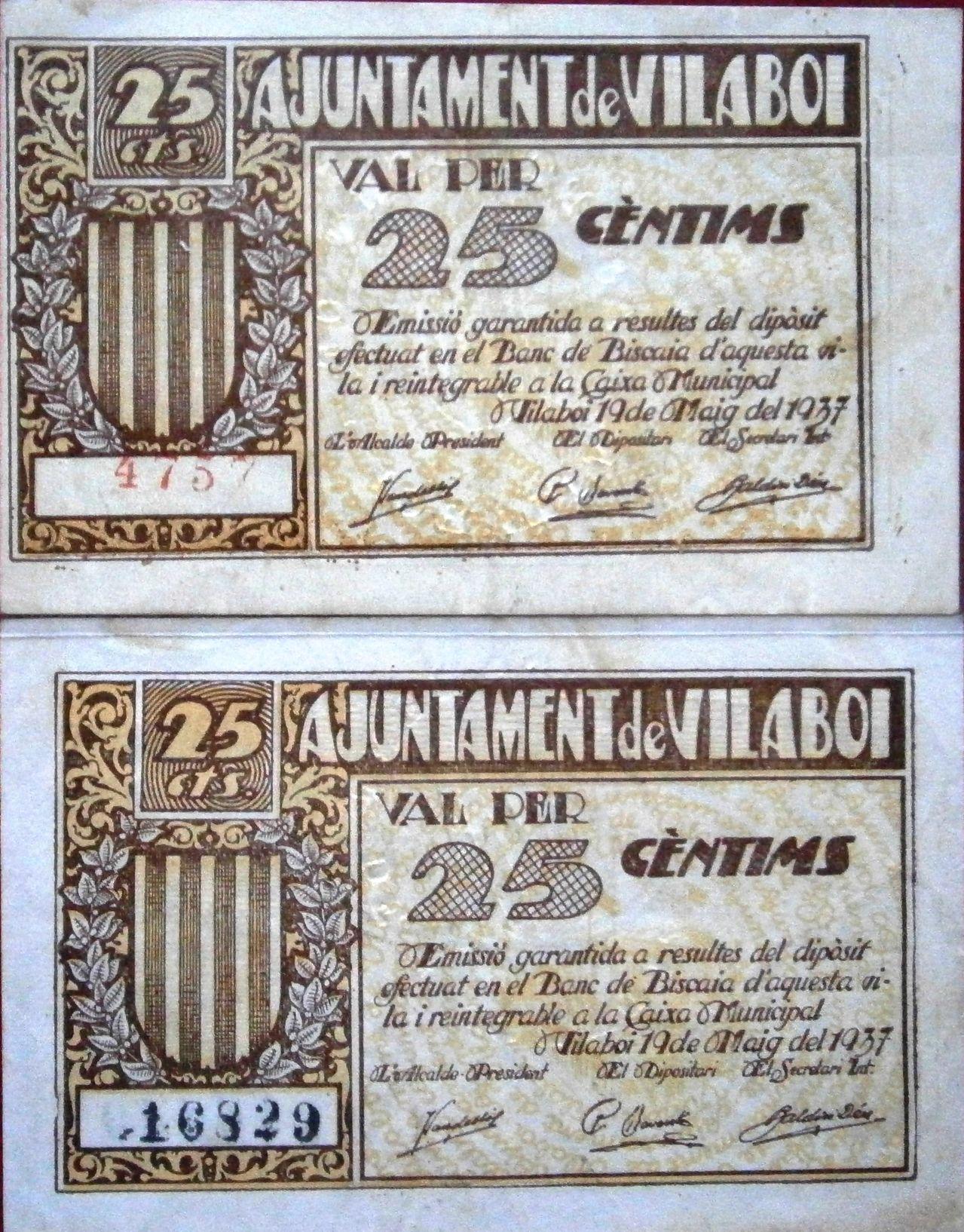 Vilaboi Sant Boi de LLobregat 25 Centimos 1937 Guerra Civil  P1010019