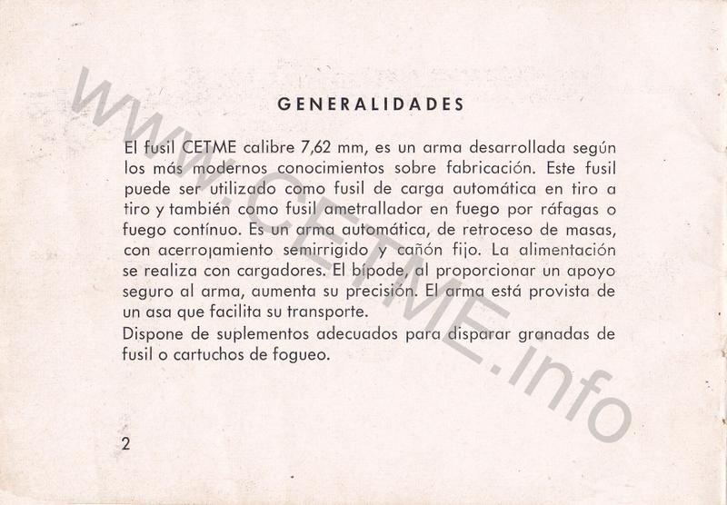 1956 - DESCRIPCION ABREVIADA DEL FUSIL DE ASALTO CETME - CETME A-2a  1956_CETME_A-2a_FORO_004