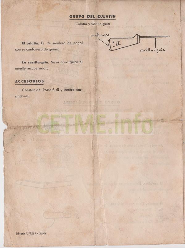 Folleto descriptivo del Fusil de Asalto B Mod.58 Folleto_Descriptivo_CETME_58_004b