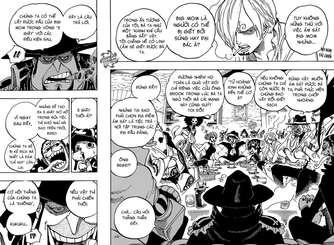 One Piece Chapter 859: Âm mưu ám sát Tứ Hoàng 002_003