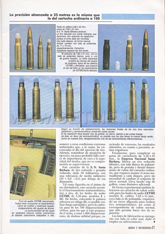 Cartuchos de Tiro Reducido españoles. Revista Armas y Municiones número 34 A_M_034_pp016
