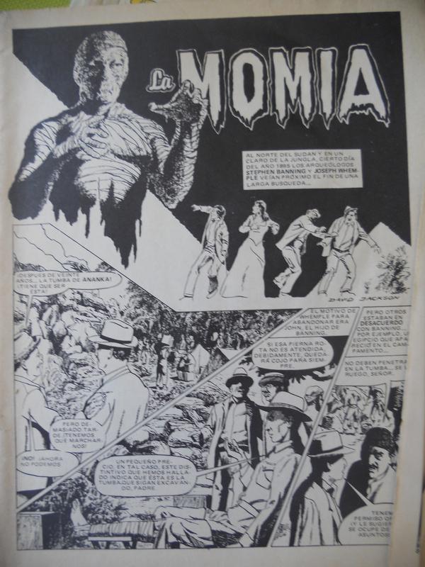 los amantes del comics de terror.................... 062