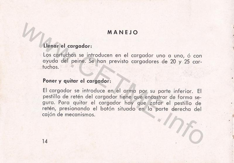 1956 - DESCRIPCION ABREVIADA DEL FUSIL DE ASALTO CETME - CETME A-2a  1956_CETME_A-2a_FORO_016