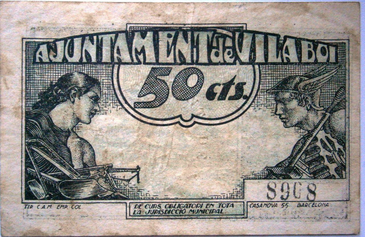 Vilaboi Actualmente Sant Boi de LLobregat 50 Centimos Guerra Civil P1010002