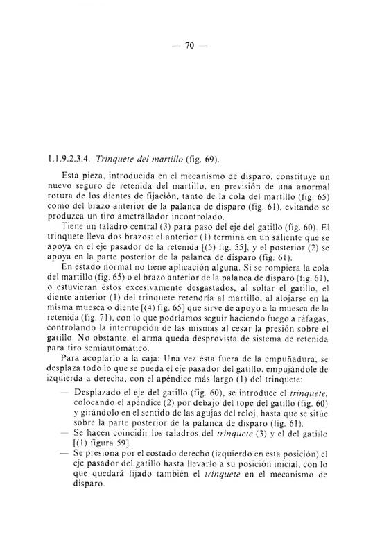 "Descripción del ""Trinquete del Martillo"" M-0-8-2-_Manual-_Armas-_Individuales-1986_pp069_TRINQUETE"