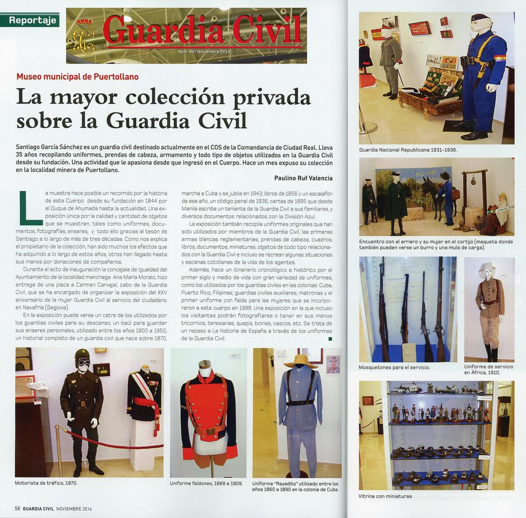 civil - Exposición Guardia Civil en Puertollano el pasado mes de Agosto. Revista_GC_Santiago