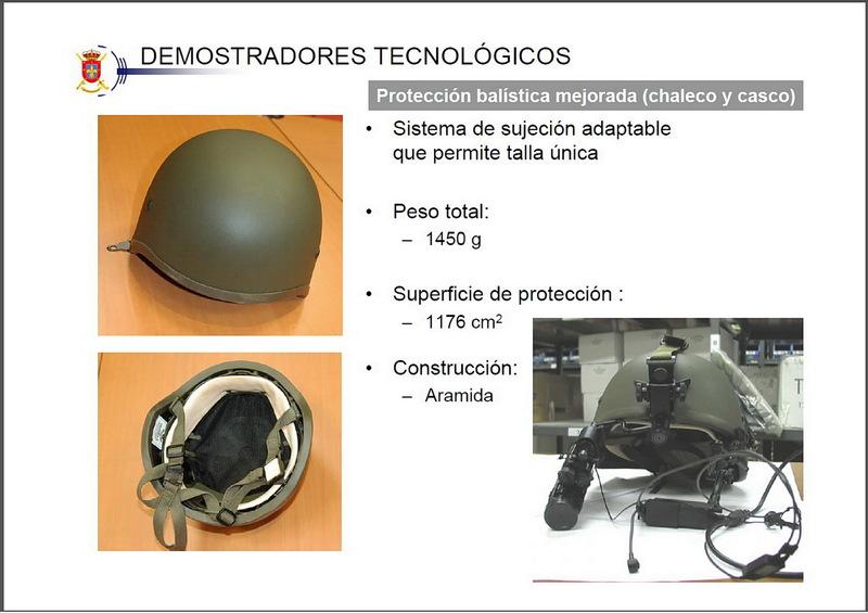 Noviembre de 2014 - Diciembre de 2016. Nuevo casco de combate para el Ejército español. FEDUR_Com_Fut_001b