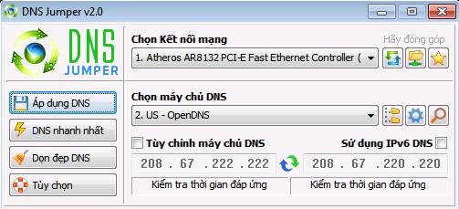 DNS Jumper 2.0 - Đổi DNS, tăng tốc duyệt web, vào web bị chặn DNS_Jumper_1