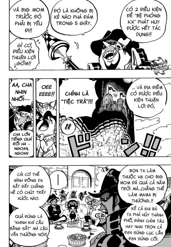 One Piece Chapter 859: Âm mưu ám sát Tứ Hoàng 006