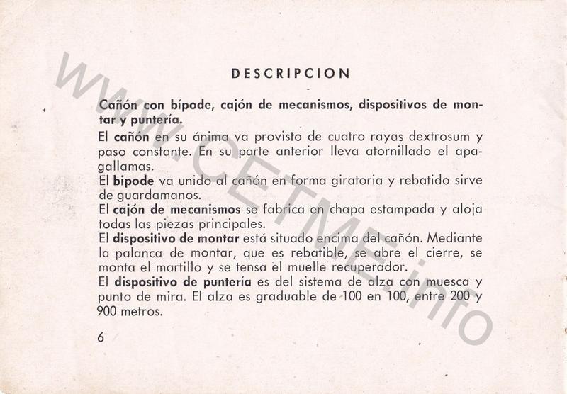 1956 - DESCRIPCION ABREVIADA DEL FUSIL DE ASALTO CETME - CETME A-2a  1956_CETME_A-2a_FORO_008