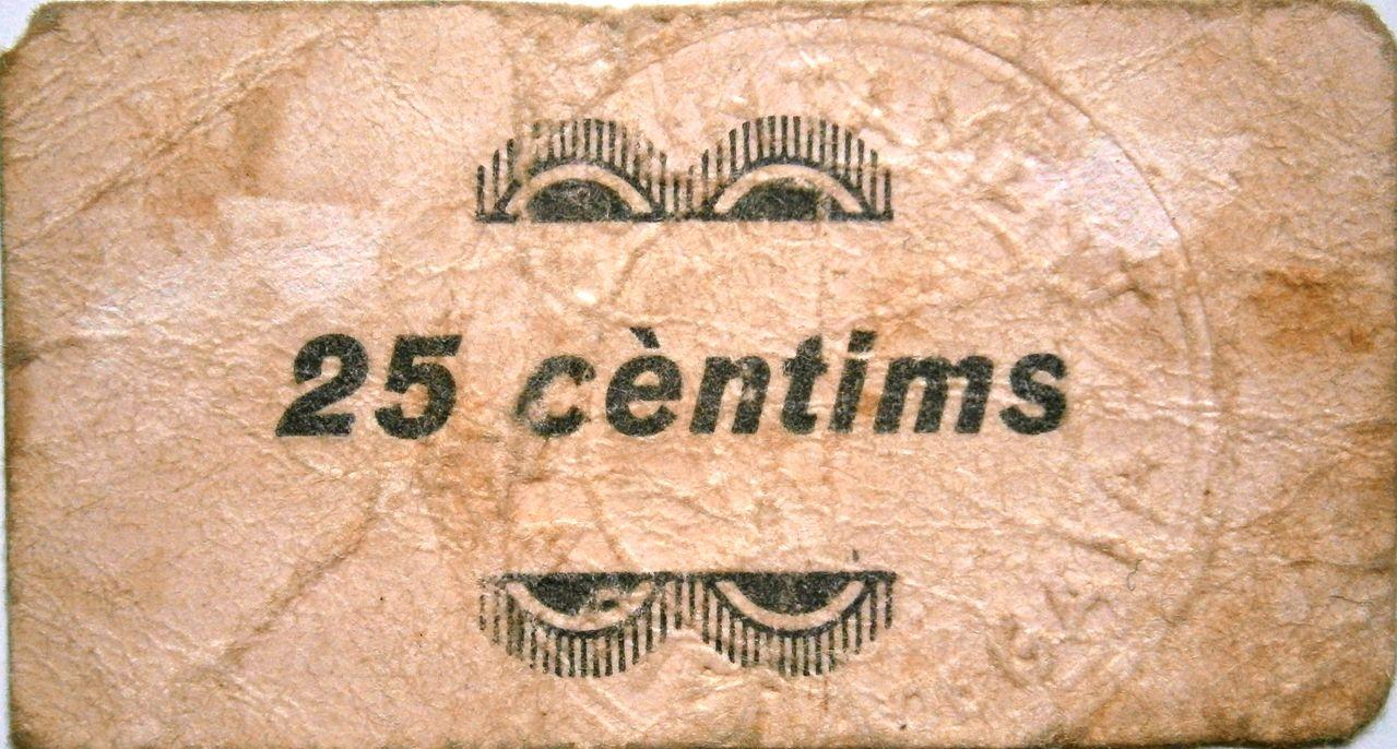 Riera de Gaia 25 Céntimos Época Guerra Civil  P1010015