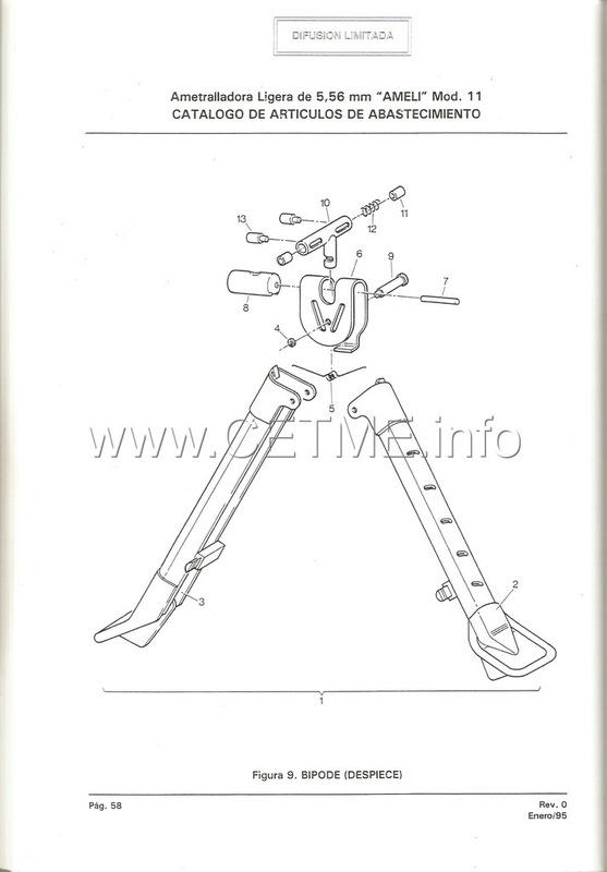 MT7-606 MANUAL TECNICO - CATALOGO DE PIEZAS. AMETRALLADORA LIGERA 5,56 mm, mod. 11 Manual_Tecnico_AMELI_mod11_pp058