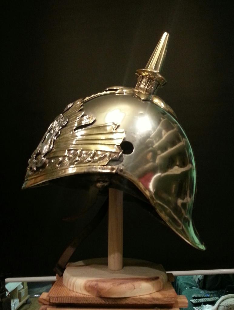 """casco - Casco Mod. 1875 de Oficial de Lanceros del Regimiento Nº1 """"del Rey"""". 20150309_153920_1"""