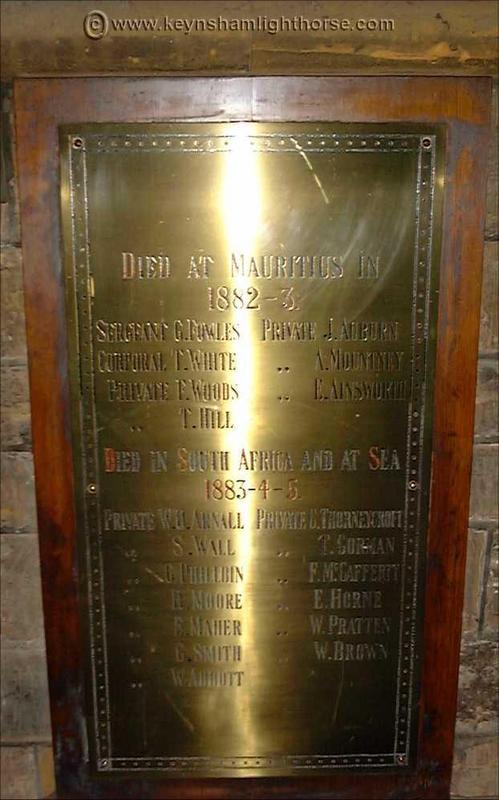 This section is dedicated to the Keynsham Light Horse 58th_maur_sa_mem