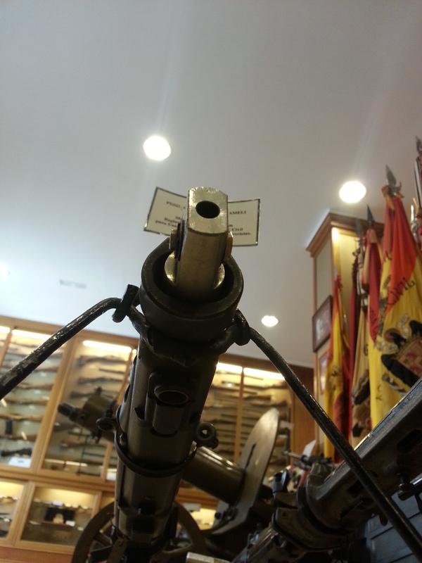 Bocacha de Fogueo de la Ametralladora AMELI. Museo de la Guardia Civil. Madrid. 20140404_Bocacha_Fogueo_Museo_GC_008