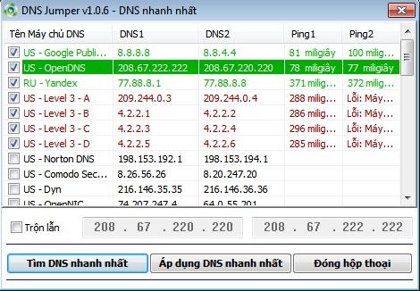 DNS Jumper 2.0 - Đổi DNS, tăng tốc duyệt web, vào web bị chặn DNS_Jumper_2