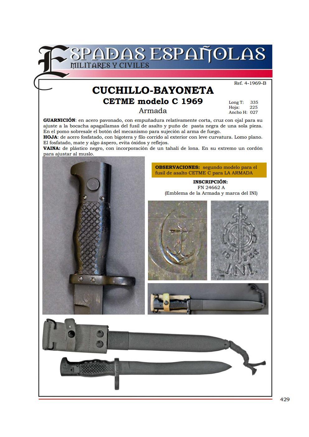 """Bayoneta CETME C para la Guardia Civil y """"de Exportación"""". Diferencias. 4_1969_Bjpg_Page1"""